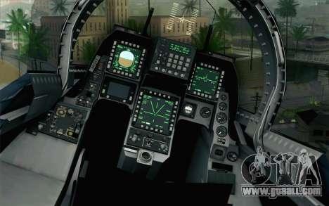 F-2A Viper 60th Anniversary of JASDF for GTA San Andreas back view