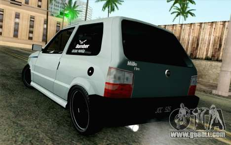 Fiat Uno Fire for GTA San Andreas left view