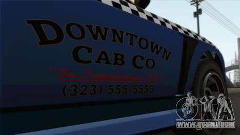 GTA 5 Bravado Buffalo S Downtown Cab Co. for GTA San Andreas back view