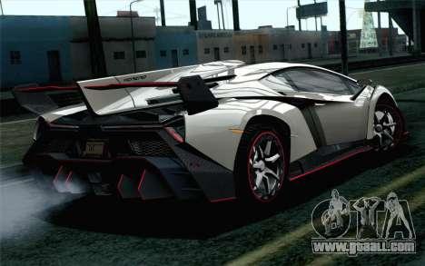 NFS Rivals Lamborghini Veneno for GTA San Andreas left view