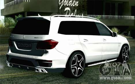 Mercedes-Benz GL63 AMG 2014 for GTA San Andreas left view