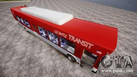GTA 5 Bus v2 for GTA 4 back left view