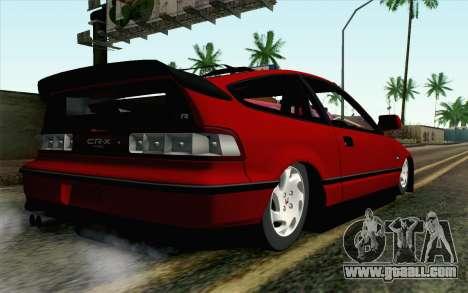 Honda CRX for GTA San Andreas left view