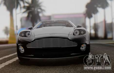 Aston Martin V12 Vanquish 2001 v1.01 for GTA San Andreas back view