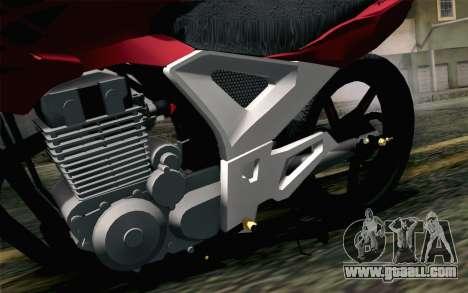 Honda Twister 250 v2 for GTA San Andreas back view