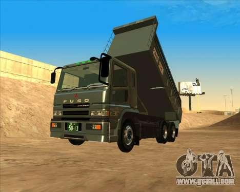 Mitsubishi Fuso Super Great Dump Truck for GTA San Andreas back left view