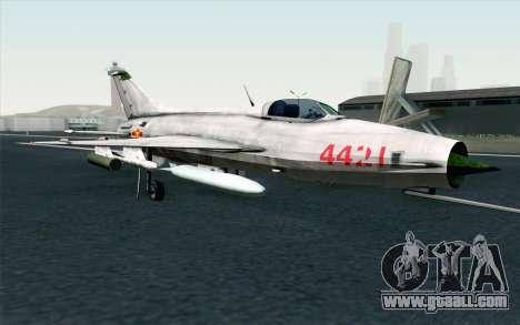 MIG-21 Fishbed C Vietnam Air Force for GTA San Andreas