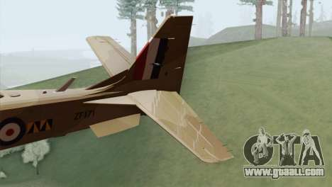 Embraer A-29B Super Tucano RAF Desert for GTA San Andreas back left view