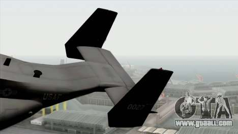 MV-22 Osprey USAF for GTA San Andreas back left view