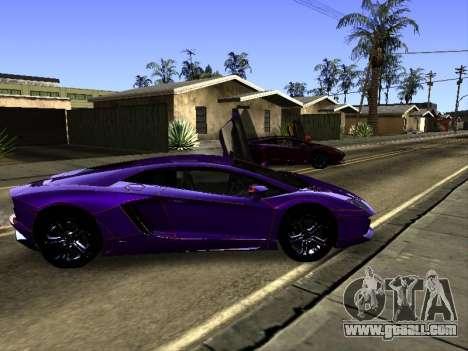 Lamborghini Aventador Tron for GTA San Andreas bottom view