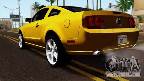 Ford Mustang GT Wheels 1 for GTA San Andreas left view
