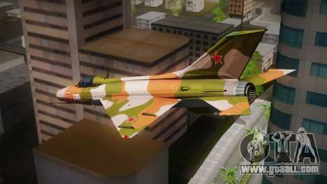 MIG 21 Russian Camo Force for GTA San Andreas left view
