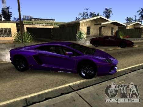 Lamborghini Aventador Tron for GTA San Andreas upper view
