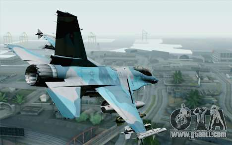 F-16C Fighting Falcon NSAWC Blue for GTA San Andreas