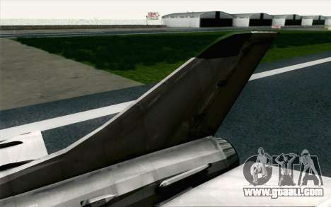 MIG-21 Fishbed C Vietnam Air Force for GTA San Andreas back left view