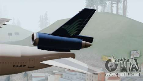 DC-10-30 Garuda Indonesia for GTA San Andreas back left view