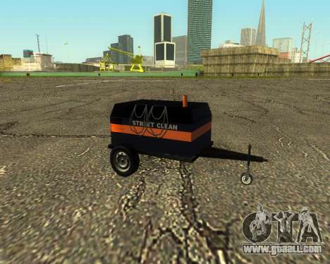 Multi Utility Trailer 3 in 1 for GTA San Andreas back left view