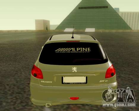 Peugeot 206 Street Racer Tuning for GTA San Andreas right view