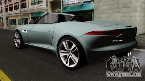 Jaguar F-Type for GTA San Andreas left view