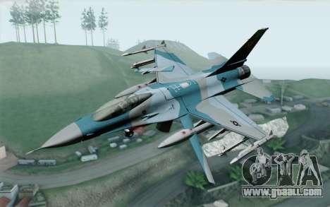 F-16C Fighting Falcon Aggressor BlueGrey for GTA San Andreas