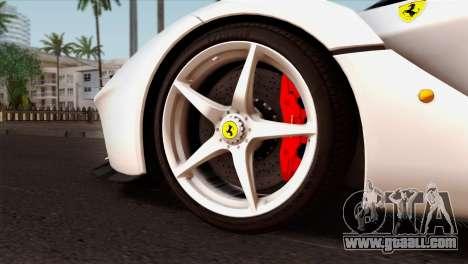 Ferrari LaFerrari 2015 for GTA San Andreas back left view