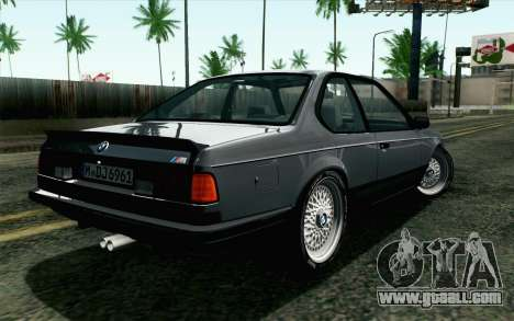 BMW M635CSI E24 1986 V1.0 EU Plate for GTA San Andreas left view