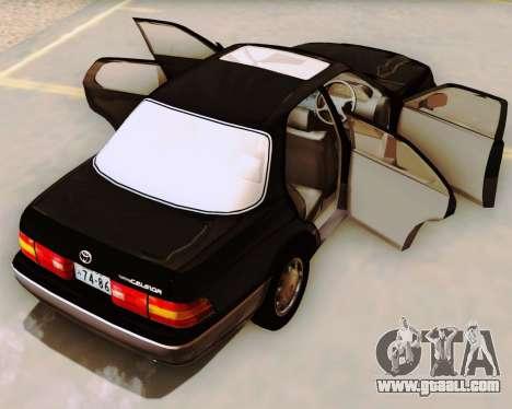 Toyota Celsior for GTA San Andreas inner view