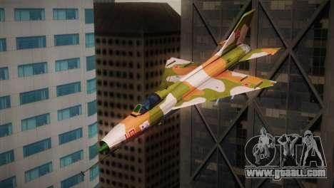 MIG 21 Russian Camo Force for GTA San Andreas