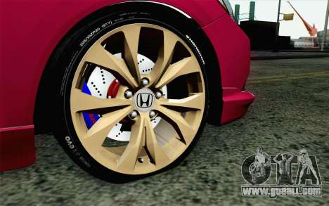 Honda Civic SI 2013 for GTA San Andreas back left view