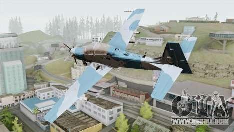 Embraer A-29B Super Tucano Navy Blue for GTA San Andreas left view