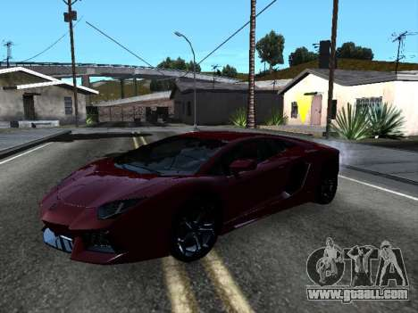 Lamborghini Aventador Tron for GTA San Andreas engine