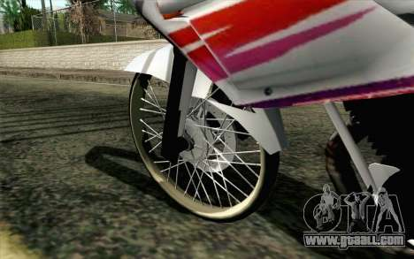 Yamaha RZR 135 Drag for GTA San Andreas back left view