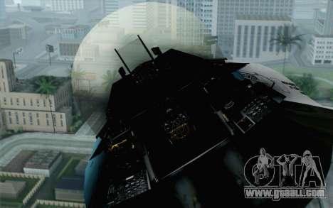 F-16C Fighting Falcon Aggressor BlueGrey for GTA San Andreas back view