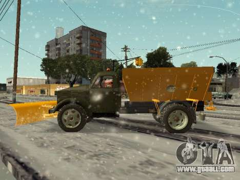 GAS 51 snowblower for GTA San Andreas left view