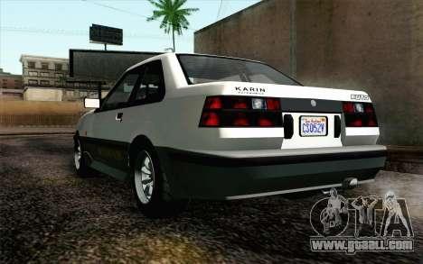 GTA 5 Karin Futo IVF for GTA San Andreas back view