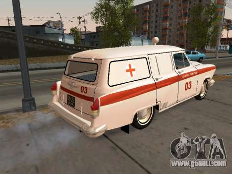 GAS 22 ambulance for GTA San Andreas back left view