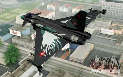 EuroFighter Typhoon 2000 Black Hawk for GTA San Andreas left view