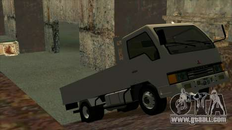 Mitsubishi Fuso Canter 1989 Flat Body for GTA San Andreas back left view