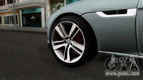 Jaguar F-Type for GTA San Andreas back left view