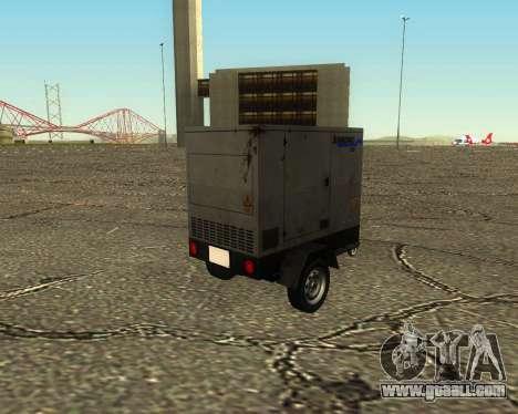 Multi Utility Trailer 3 in 1 for GTA San Andreas inner view