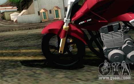 Honda Twister 250 v2 for GTA San Andreas back left view