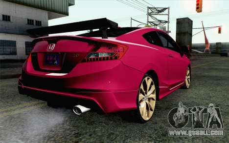 Honda Civic SI 2013 for GTA San Andreas left view
