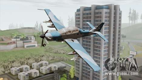 Embraer A-29B Super Tucano Navy Blue for GTA San Andreas