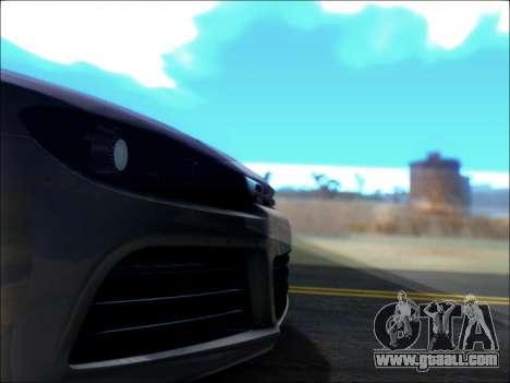 Volkswagen Scirocco Tunable for GTA San Andreas upper view