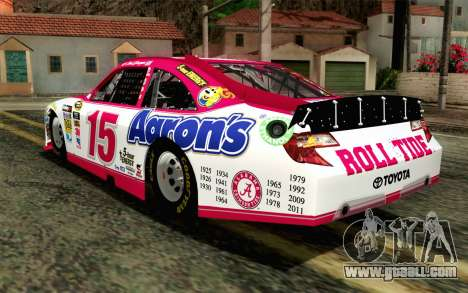 NASCAR Toyota Camry 2012 Plate Track for GTA San Andreas left view