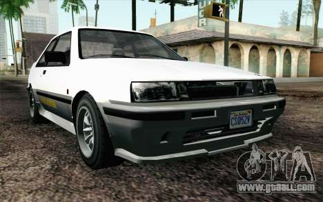 GTA 5 Karin Futo IVF for GTA San Andreas