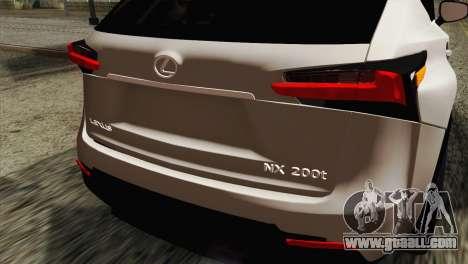 Lexus NX 200T for GTA San Andreas