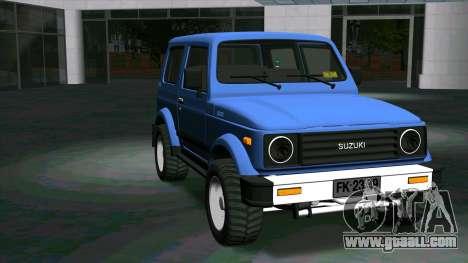 Suzuki Samurai for GTA San Andreas back view
