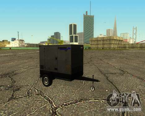 Multi Utility Trailer 3 in 1 for GTA San Andreas back view