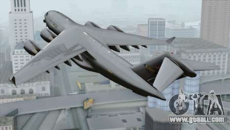 C-17A Globemaster III USAF McGuire for GTA San Andreas left view